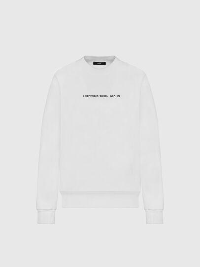 Diesel - S-BIAY-COPY, White - Sweatshirts - Image 1