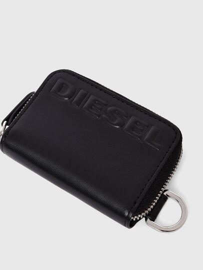 Diesel - JAPAROUND, Black - Zip-Round Wallets - Image 4