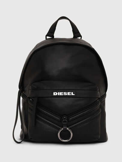 Diesel - LE-ZIPPER BACKPACK, Noir - Sacs à dos - Image 1
