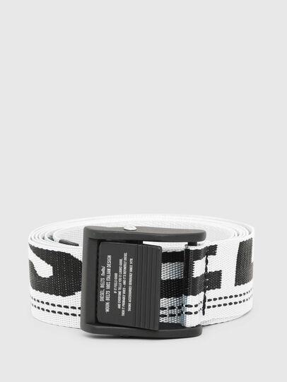 Diesel - B-MASER, Blanc/Noir - Ceintures - Image 1