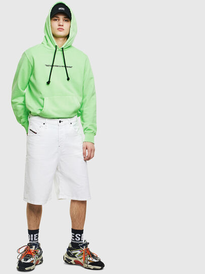 Diesel - S-GIRK-HOOD-FLUO, Green Fluo - Sweatshirts - Image 7