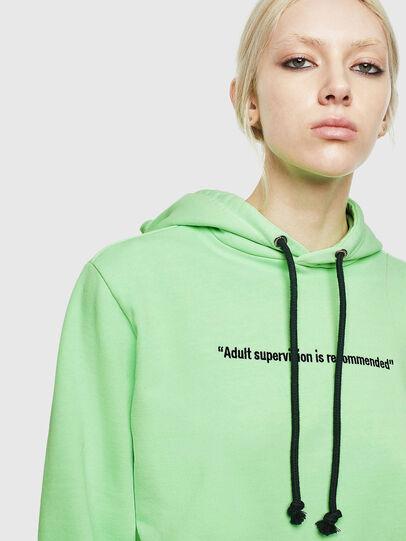 Diesel - S-GIRK-HOOD-FLUO, Green Fluo - Sweatshirts - Image 6