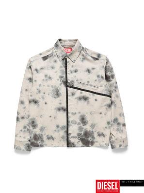 ACW-SH05, Blanc/Noir - Chemises en Denim