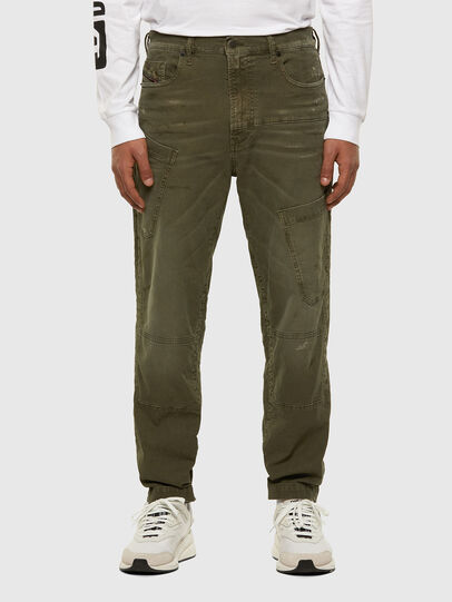 Diesel - D-Azzer JoggJeans 069NF, Military Green - Jeans - Image 1