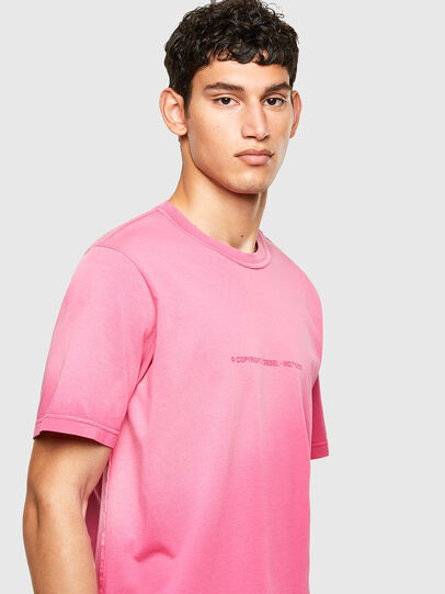 Diesel - T-JUBIND-SLITS-A1, Rose - T-Shirts - Image 3