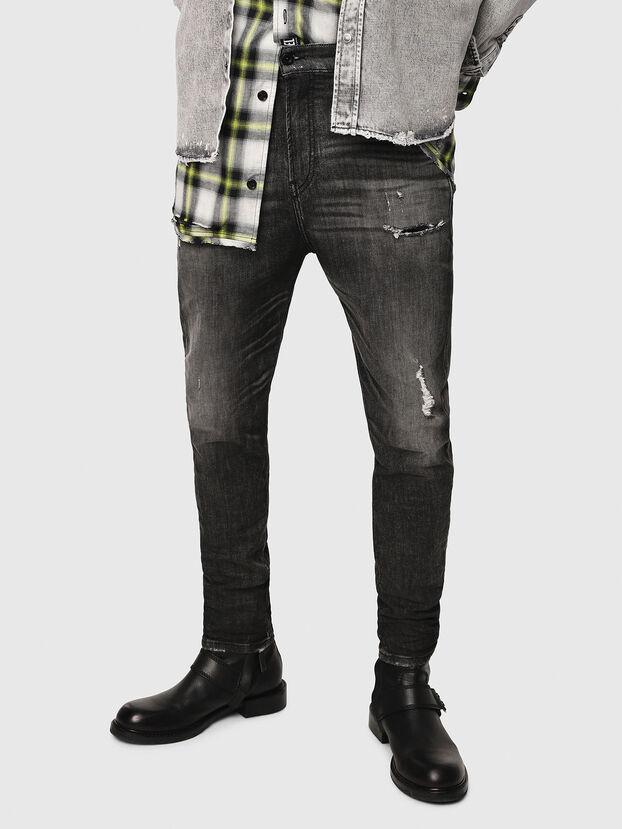 D-Vider JoggJeans 0077S, Noir/Gris foncé - Jeans