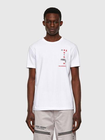 Diesel - T-DIEGOS-B4, Blanc - T-Shirts - Image 1