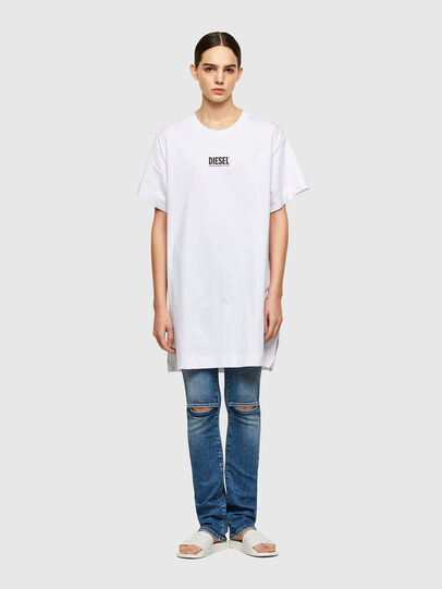 Diesel - D-BOWI-SMALLOGO, Blanc - Robes - Image 1