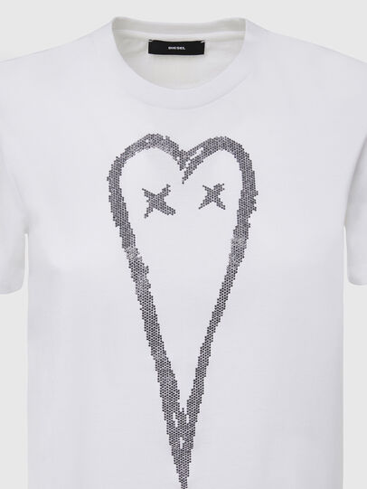 Diesel - T-SILY-E53, Blanc - T-Shirts - Image 3