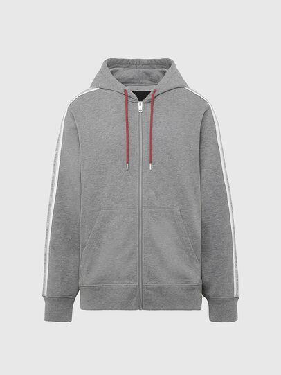 Diesel - UMLT-BRANDON-Z, Light Grey - Sweatshirts - Image 1