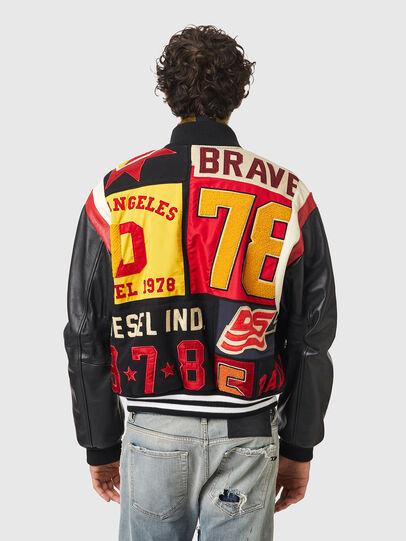 Diesel - L-KEIR, Black/Red - Leather jackets - Image 2