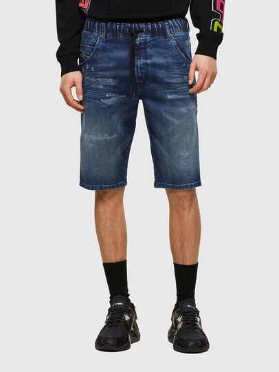 Diesel - D-KROOSHORT JOGGJEANS, Bleu moyen - Shorts - Image 1