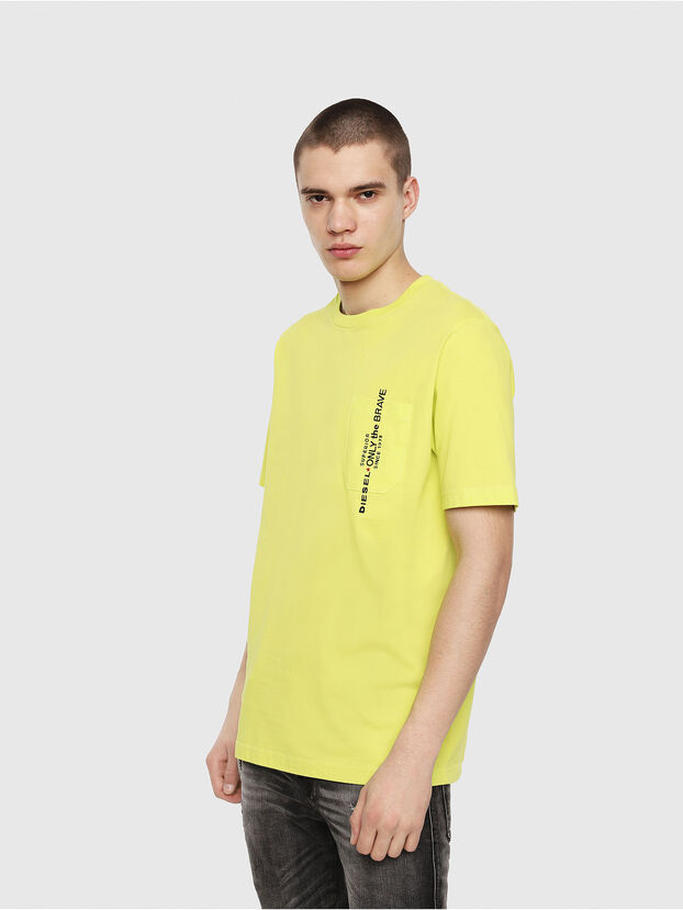 T-JUST-POCKET, Vert Fluo - T-Shirts