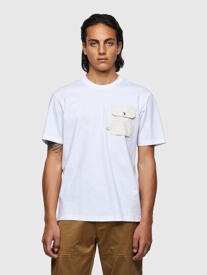 Diesel - T-JUSMER, White - T-Shirts - Image 1