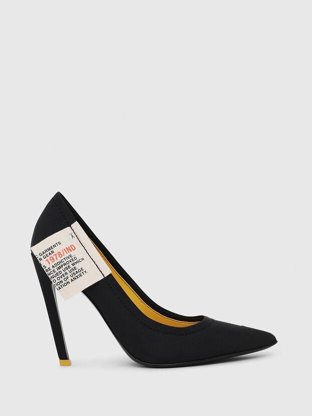 D-SLANTY HPD, Noir/Jaune - Chaussures À Talon