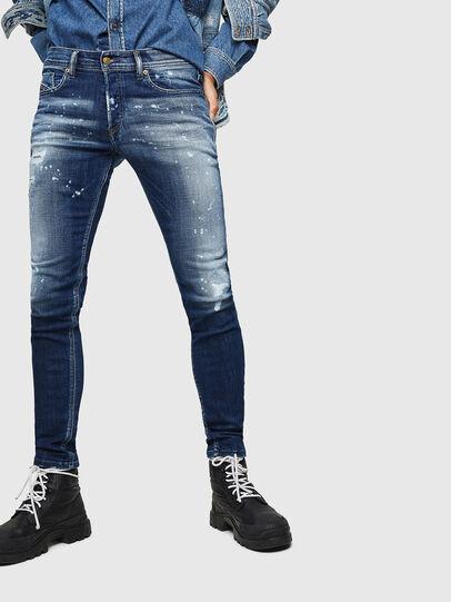 Diesel - Sleenker 0091Y, Bleu moyen - Jeans - Image 1