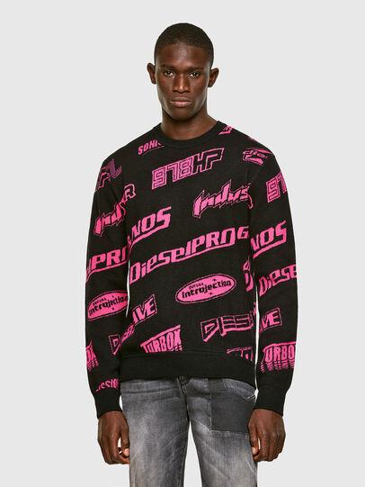 Diesel - K-NICKEL, Black/Pink - Sweaters - Image 1