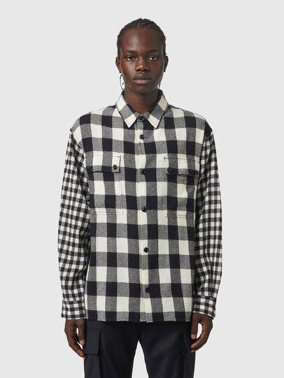 Diesel - S-BUNNEL-CHECK, Black/White - Shirts - Image 1