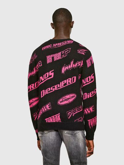 Diesel - K-NICKEL, Black/Pink - Sweaters - Image 2