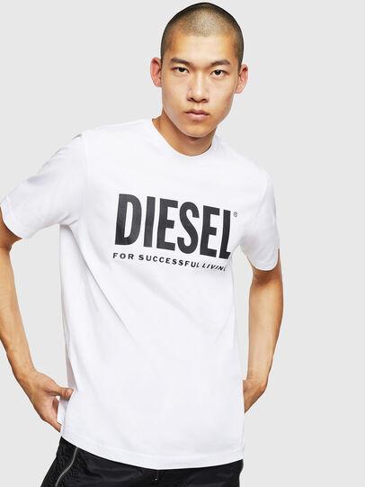 Diesel - T-JUST-LOGO, Blanc - T-Shirts - Image 1