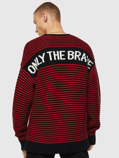 Diesel - K-BALLIS, Red/Black - Sweaters - Image 3