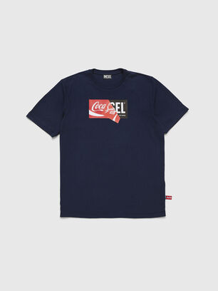 CC-T-JUST-COLA, Bleu Foncé - T-Shirts