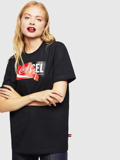 Diesel - CC-T-JUST-COLA, Black - T-Shirts - Image 2