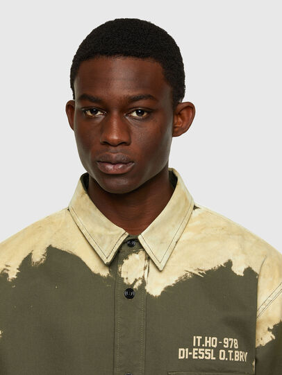 Diesel - S-BUNNELL, Olive Green - Shirts - Image 3