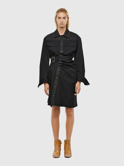 Diesel - D-CALYN, Noir - Robes - Image 1