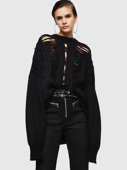 Diesel - MEBLY, Noir - Pull Maille - Image 4
