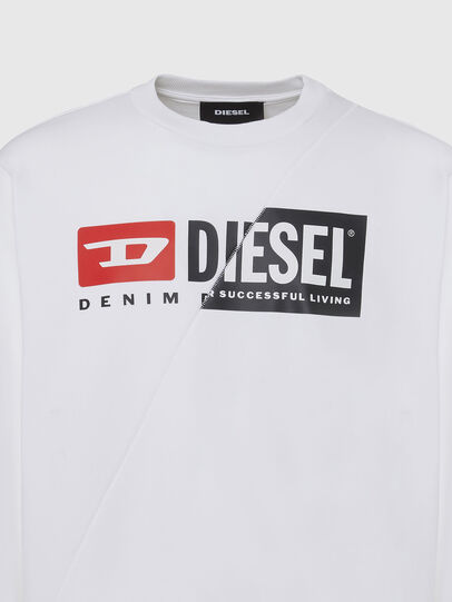 Diesel - S-GIRK-CUTY, Blanc - Pull Cotton - Image 3