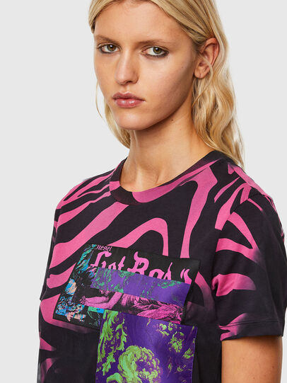 Diesel - T-SILY-R3, Noir/Rose - T-Shirts - Image 3