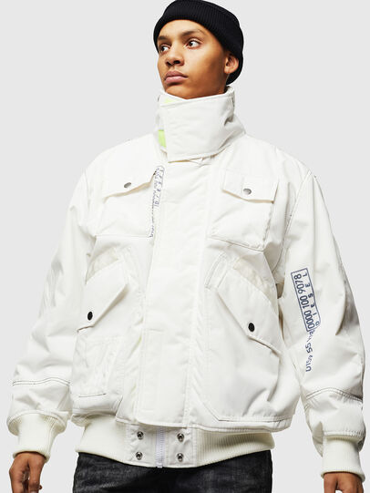 Diesel - W-OKSO, White - Winter Jackets - Image 1