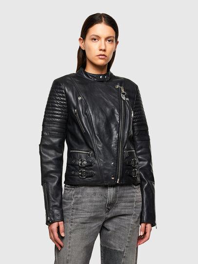 Diesel - L-IGE-NEW-A, Noir - Vestes de cuir - Image 1