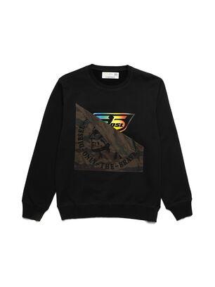 D-HALF&HALF, Black - Sweatshirts