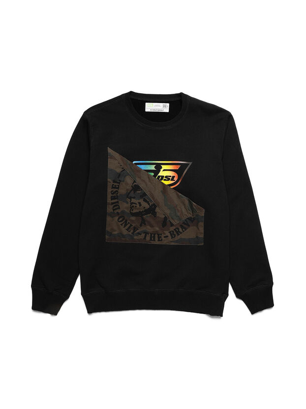 D-HALF&HALF, Black - Sweatshirts