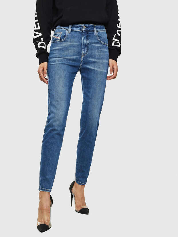 Slandy High 009AG, Bleu moyen - Jeans