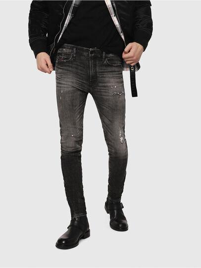 Diesel - D-Reeft JoggJeans 0077S, Noir/Gris foncé - Jeans - Image 1