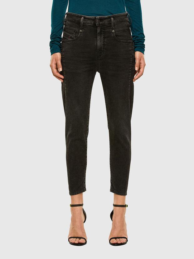 Fayza JoggJeans 009HM, Noir/Gris foncé - Jeans