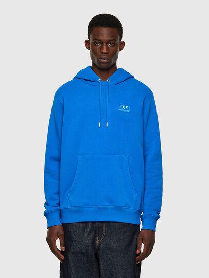 Diesel - S-GIRK-HOOD-C.C, Blue - Sweatshirts - Image 1