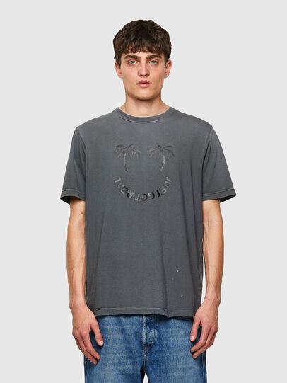 Diesel - T-JUST-B64, Gris - T-Shirts - Image 1