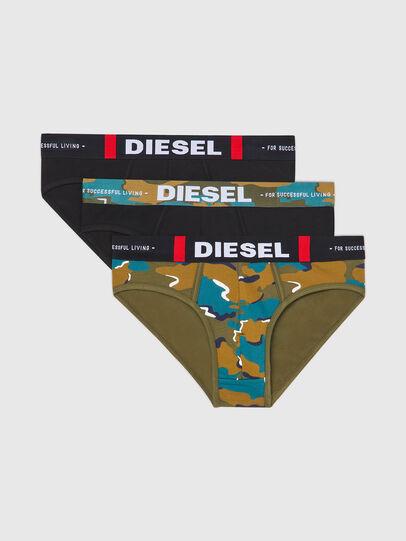 Diesel - UMBR-ANDRETHREEPACK, Noir/Vert - Culottes - Image 1