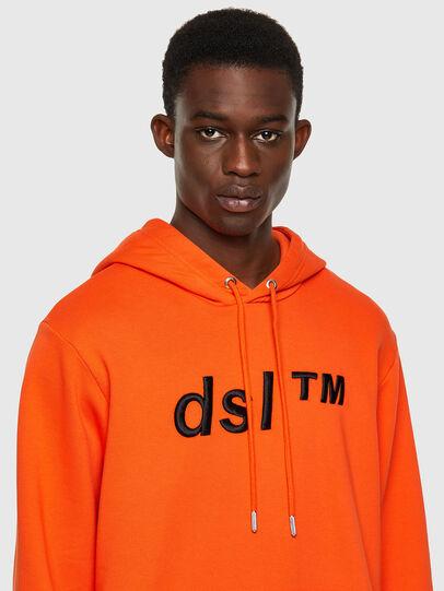 Diesel - S-GIRK-HOOD-B4, Orange - Pull Cotton - Image 3