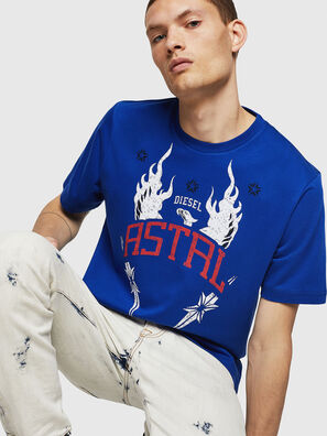 T-JUST-A5, Bleu Brillant - T-Shirts
