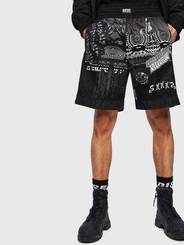 P-KUMI-PRINT-A, Noir - Shorts