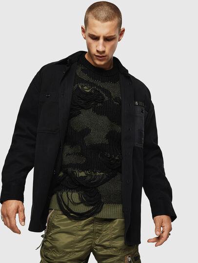 Diesel - S-LEBED, Noir - Chemises - Image 6