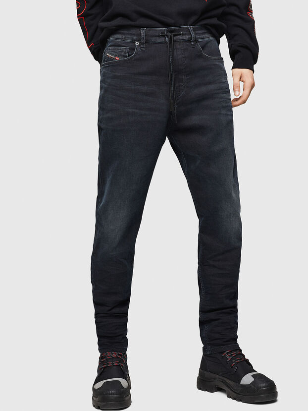 D-Vider JoggJeans 069GE, Noir/Gris foncé - Jeans