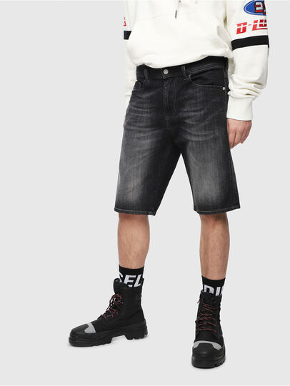Diesel - THOSHORT, Black/Dark Grey - Shorts - Image 1