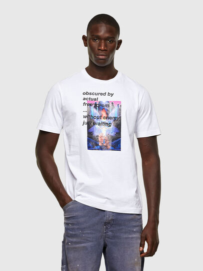 Diesel - T-JUST-A43, Blanc - T-Shirts - Image 1