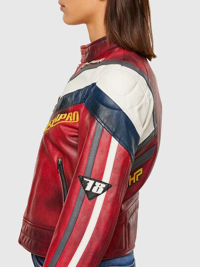 Diesel - L-POLLY, Rouge - Vestes de cuir - Image 7
